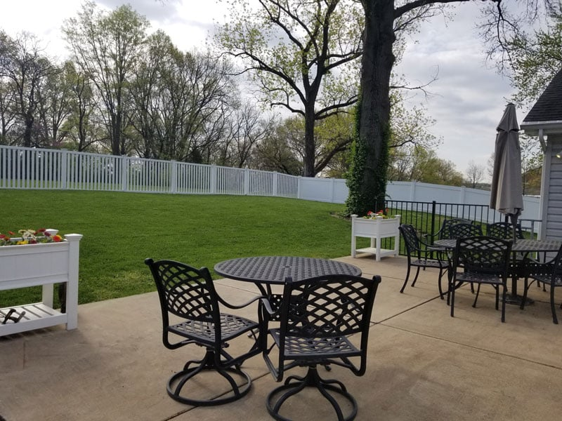 Back patio area for our assisted living homes